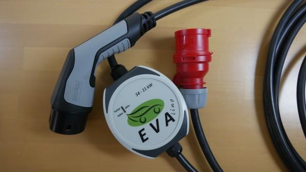 EVAlino (EVA S4) Mobiler Ladeadapter Wallbox 2,4kW / 11kW - Reiseadapter